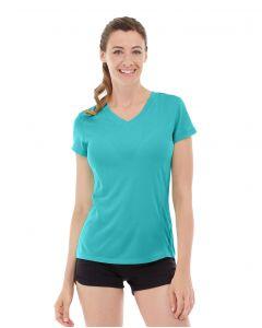 Gabrielle Micro Sleeve Top-L-Blue